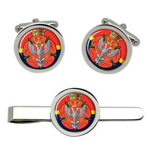 Royal-Mercian-and-Lancastrian-Yeomanry-British-Army-Cufflinks-and-Tie-Clip-Set