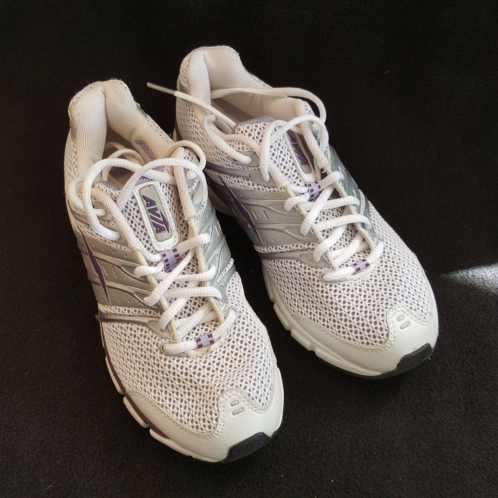 Avia Women's Running shoes Art Elite White Silver Purple Plum Sneakers Sz 6M New