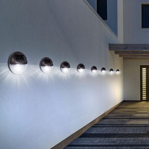 8x DEL extérieur mur Lampe Solaire Clôture éclairage jardin cour Projecteur Luminaire environ