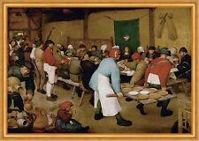 Die niederländischen Sprichwörter Dutch Pieter Bruegel der Ältere A2 45 Gerahmt