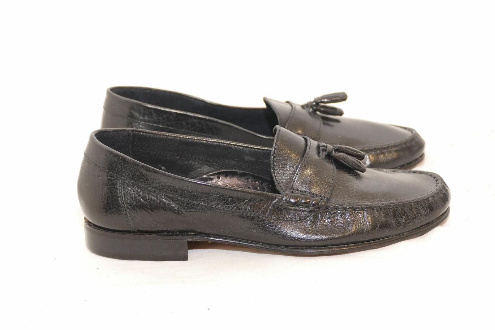 145---GianCarlo Rossi Leder Slipper  schwarz handmade Leder Rossi Gr. 40 -Gian Carlo c15fd4