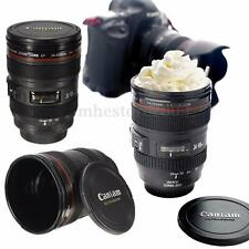Black Lens Thermos Camera Lens Cup 24-105mm Travel Coffee Tea Mug Cup Gift