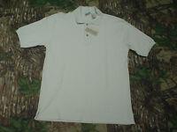Fieldmaster Mens Short Sleeve stone / Beige Dressy Polo Shirt Medium W Tag
