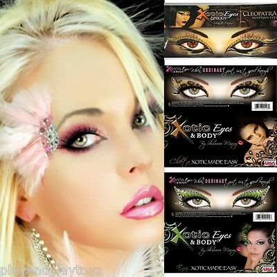 Halloween Xotic Eyes Self Adhesive Crystals Makeup Strips Costume Mask Accessory