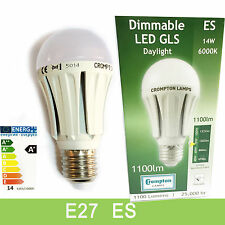 CROMPTON ES E27 GLS DIMMABLE LED BULB 14W OPAL DAYLIGHT 6000K LED LIGHT BULB