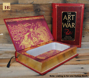 Details about Hollow Book Safe - The Art of War - Leather Bound Book Safe
