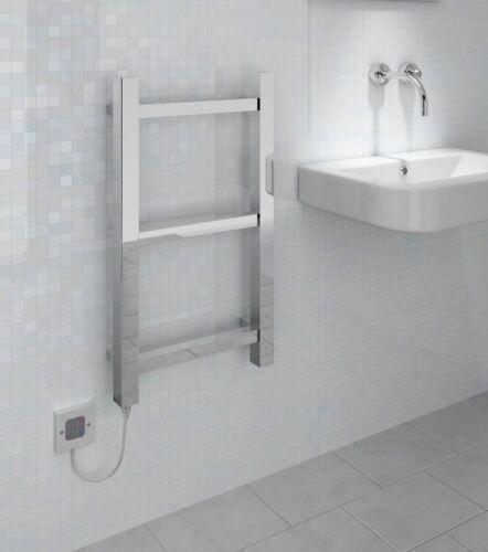 Boost REGOLATORE di Parete Cromata-Porta asciugamani Radiatore /& Termostato elemento riscaldante