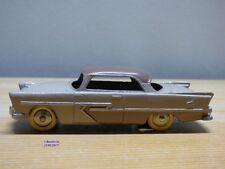 Dinky Toys vrai # 24D-2d, PLYMOUTH  Belvedere beige et marron