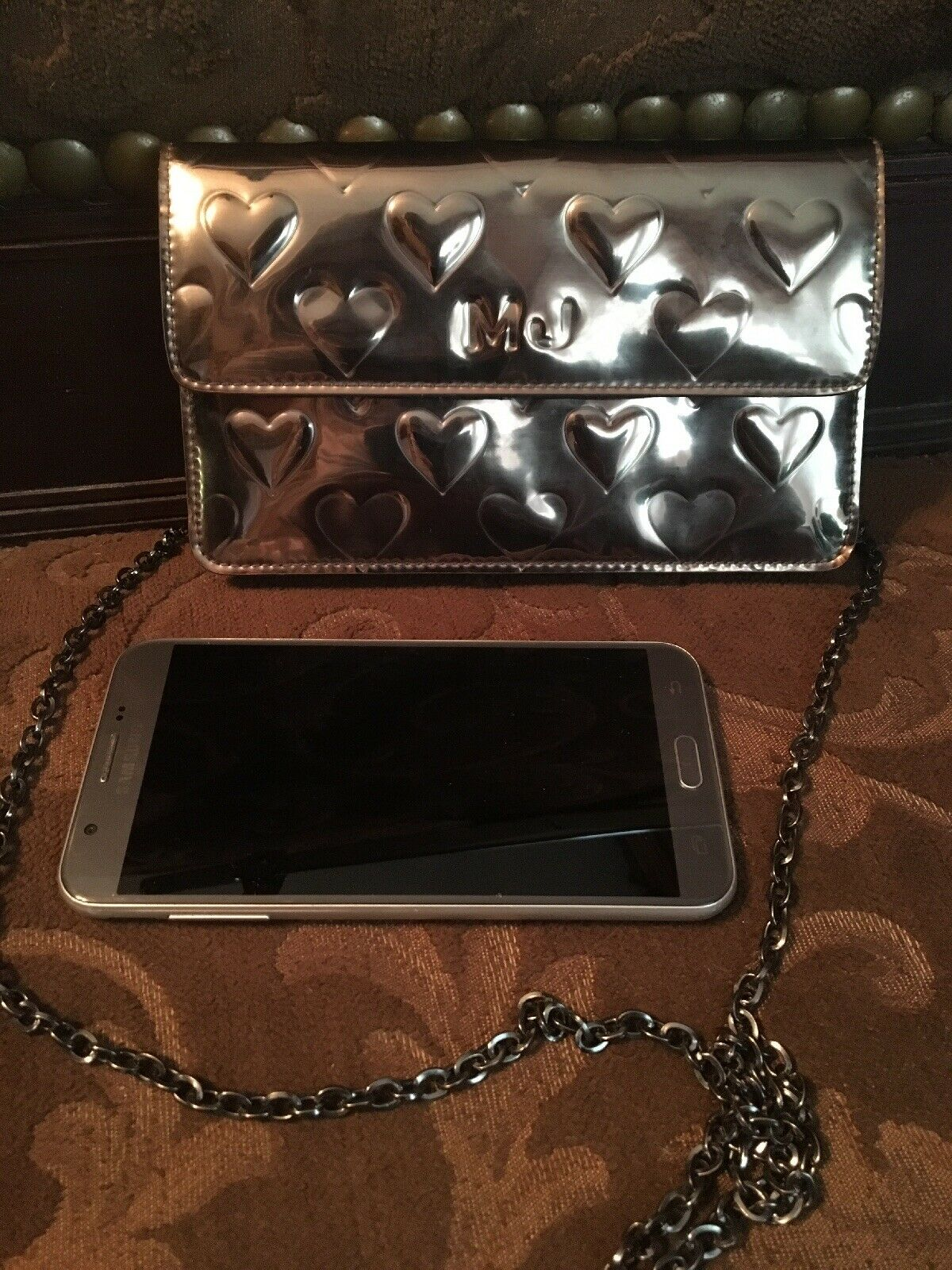 Marc Jacobs RealLeather Metallic Color clutch purse
