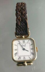 Montre-Dermont-034-De-luxe-034-ancienne-femme-bracelet-cuir-mecanique
