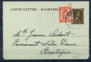 Belgio-1938-Mi-K-29-I-Intero-postale-100-Usato-70-C-Leopoldo-III