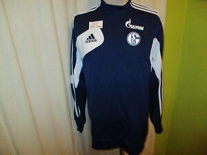 FC-Schalke-04-Original-Adidas-Spieler-Sweatshirt-Pullover-2013-14-034-GAZPROM-034-Gr-M