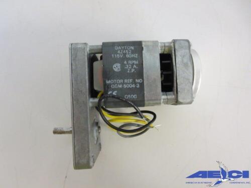 4 RPM OPEN DAYTON 4Z452 AC GEARMOTOR 115V