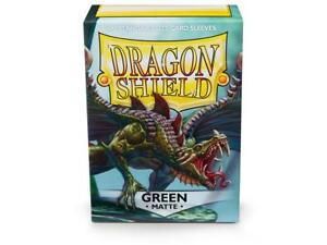 Matte Green 100 ct Dragon Shield Sleeves Standard Size FREE SHIPPING! 10% OFF 2+