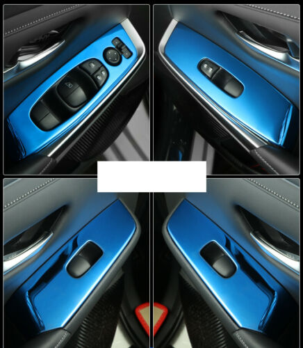 For Nissan Sylphy Sentra 2020 blue titanium Window lift panel switch cover trim