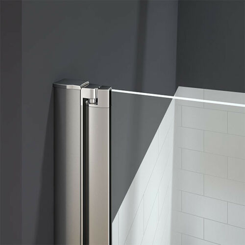 180° Pivot 1000x1400mm Shower Bath Screen Over 5mm Glass Door Panel Towel Rail