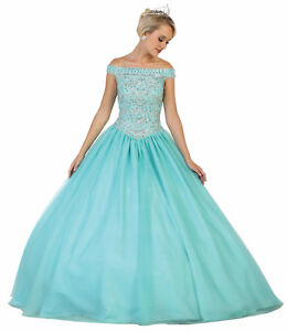 ddc642991c41ea Image is loading DEBUTANTE-QUINCEANERA-OFF-SHOULDER-FORMAL-EVENING-GOWN- MILITARY-