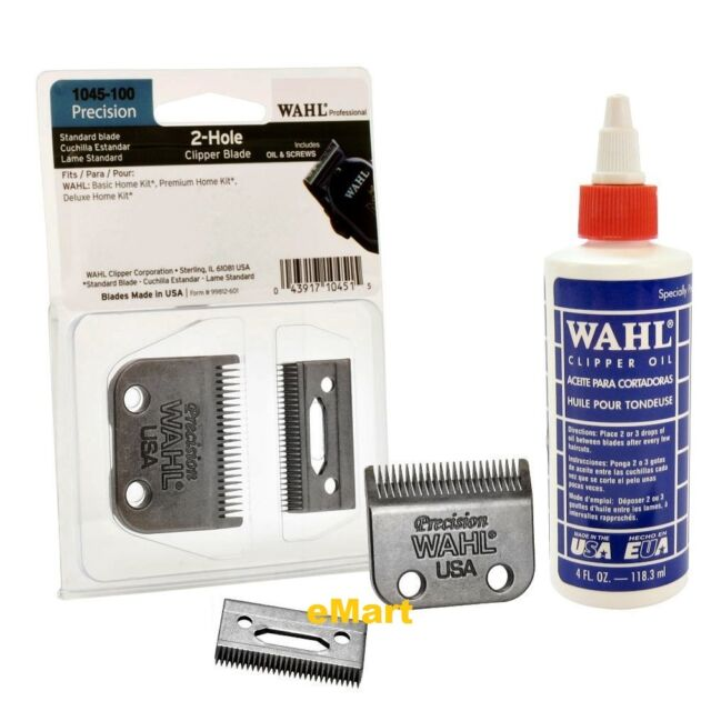 WAHL Professional PRECISION STANDARD BLADES 1045 for 2 HOLE HOME KIT CLIPPER SET