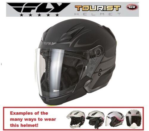 Fly Racing Tourist Multi Style Cirrus White Pink Helmet Half Full Face Racing