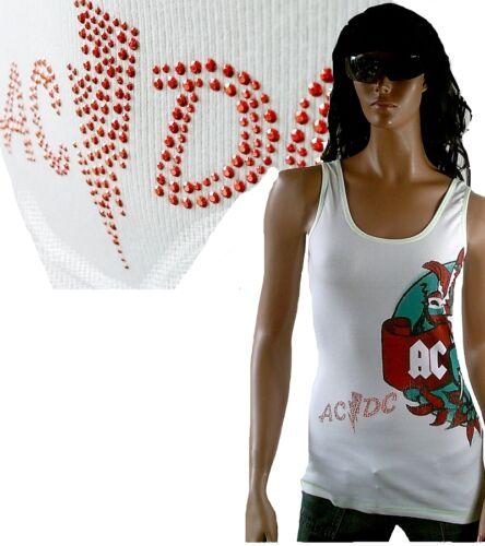 Amplified Official AC//DC Strass Tattoo Rock Star ViP TANK TOP SHIRT g.L 38 40 42