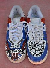 NIKE AIR FORCE 1 '82 PATRIOTIC RED WHITE BLUE  SZ 11 (#306353 164) CUSTOM PAINT
