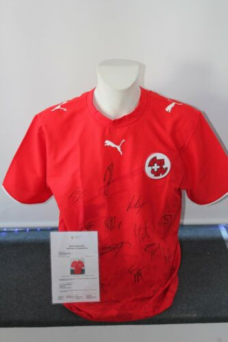 Schweiz Trikot WM 2006 L Teamsigniert