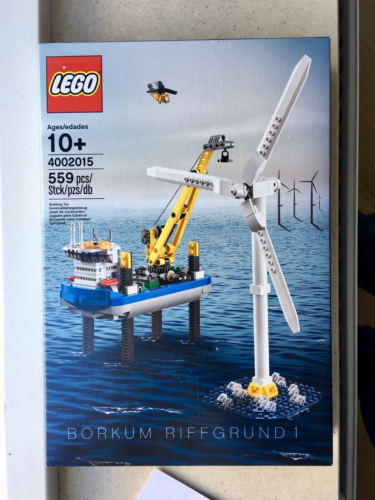 Lego employee gift 4002015 Borkum Riffgrund 1 with greeting card, new and sealed