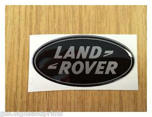 65-x-33-mm-SILVER-LAND-ROVER-DOMED-STICKER-DEFENDER-DISCOVERY-90-110