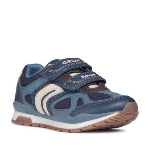Zapatilla de PIEL para Colegio Tenis Deportiva Niño Azul GEOX Sneaker Blue Boy