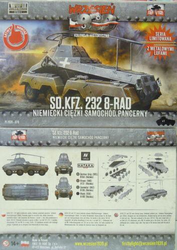 NEU, First To Fight 1//72 Plastik Schwerer Panzerwagen Sd.Kfz.232 8-Rad