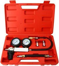 Cylinder Leak Down Leakage Tester Detector Engine Compression 2 Gauges Test Tool