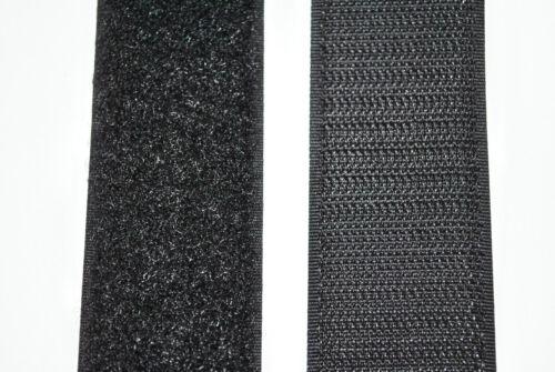 Cinta de velcro 100 mm negro por cada 1 m velcro y por cada 1 metros semitransparente para pegar