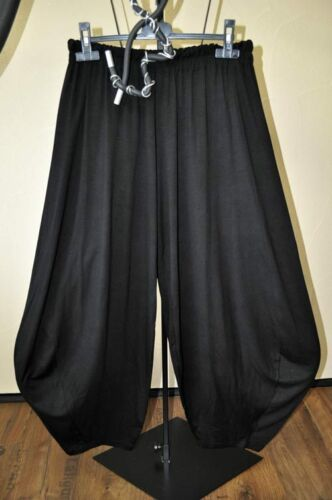 XXL XXXL DESIGNER-Lagenlook Wasserfall-Ballonhose Jersey BLACK Gr 3 50,52,54