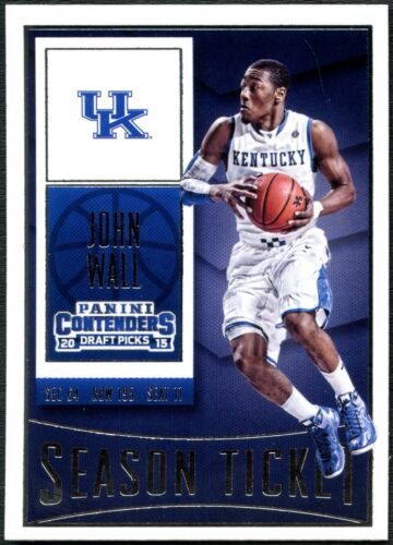 John Wall Wildcats #49 PANINI CONTENDERS DRAFT PICKS 2015 Basketball carte C2449