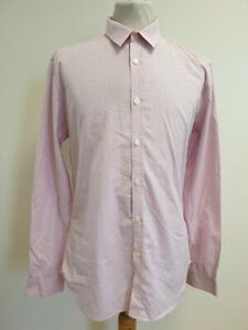 E73-MENS-PAUL-SMITH-PINK-BLUE-WHITE-CHECK-LONG-SLEEVE-FITTED-CASUAL-SHIRT-UK-M
