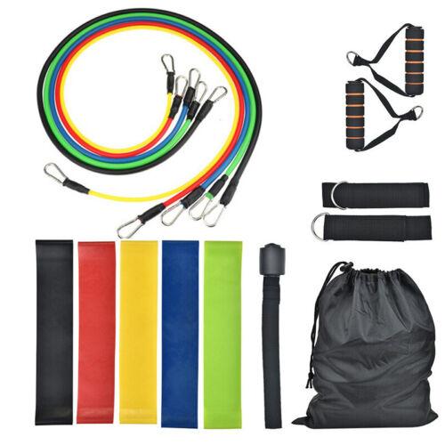 17 tlg//Set Fitnessband Expander Widerstandsbänder Yoga Gymnastikbänder Home Büro