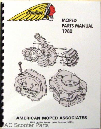 1980 Indian Moped Parts Book      AMI-50 Manual