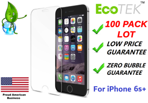 """100x Wholesale Lot Tempered Glass Screen Protector for Apple iPhone 6s Plus 5.5"""""""