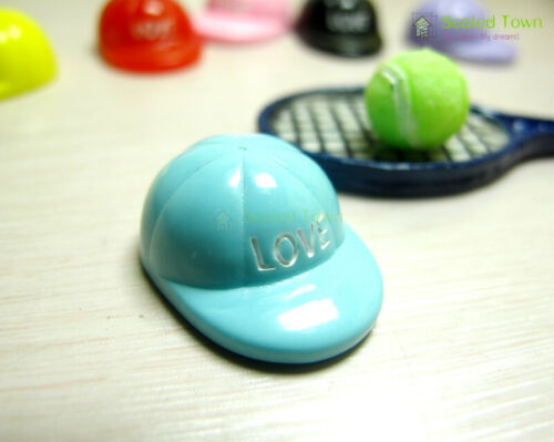 6pc Dollhouse Miniature Multicolor Baseball Caps Hat 1:12 DIY Clothing Accessory