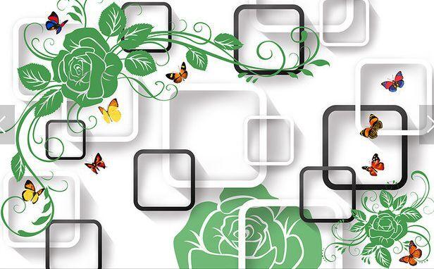 3D greene Blätter 45878 Fototapeten Wandbild Fototapete BildTapete Familie DE