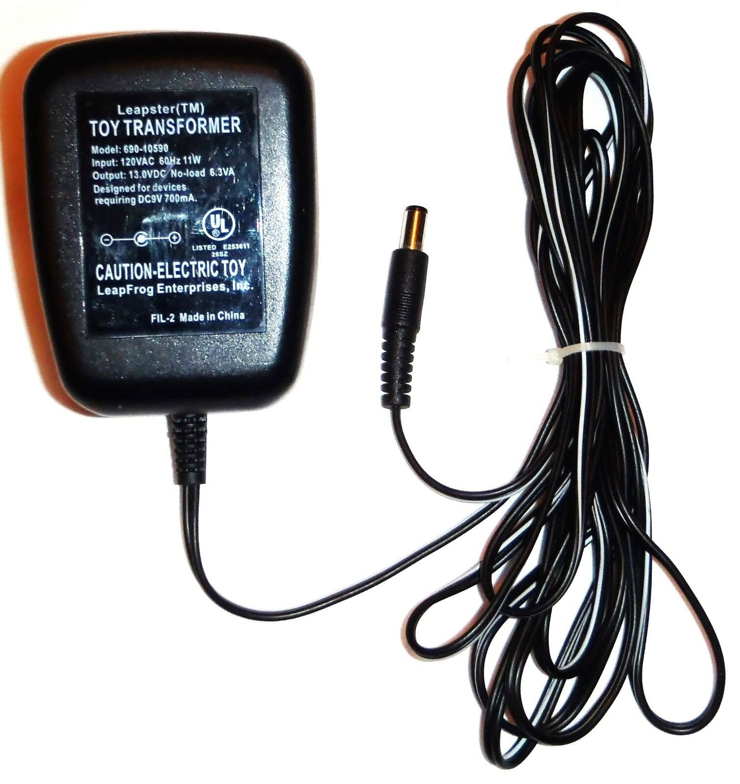 Leapster 690-10590 Toy Transformer 13v AC/DC Power Supply Battery Charger FIL-2