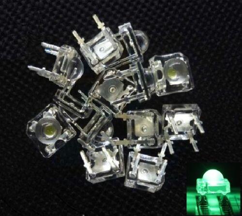 10PCS 5mm F5 Piranha LED Green Round Head Super Bright Light Emitting Diode