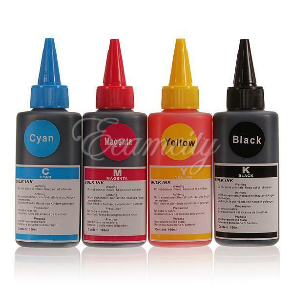 100ML Refill Ink for HP Canon PG-640 Samsung Lexmark Dell Brother Inkjet Printer