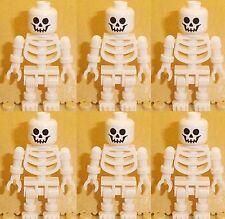 Lego 6 x White Skeletons Minifigures