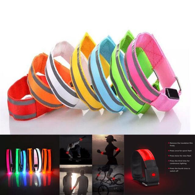 Security Safety Reflective Arm Band Belt Strap Night Running Jogging Biking Gear