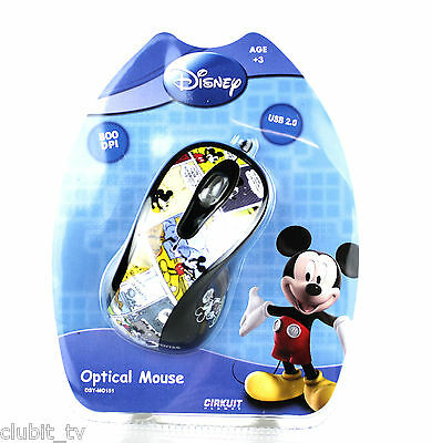 Disney Mickey Cartoon Comic PC Computer Optical USB Mouse - BNIP DSY-MO151 NEW
