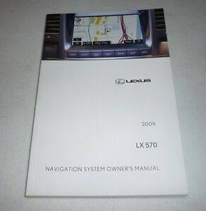 2009 lexus lx570 navigation system owners manual 09 lx 570 ebay rh ebay com 2013 lexus lx 570 owner's manual lexus lx 570 owners manual