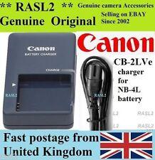 Genuino Original Cargador CANON, CB-2LVE NB-4L Ixus 110 115 120 130 es, 220 230 HS