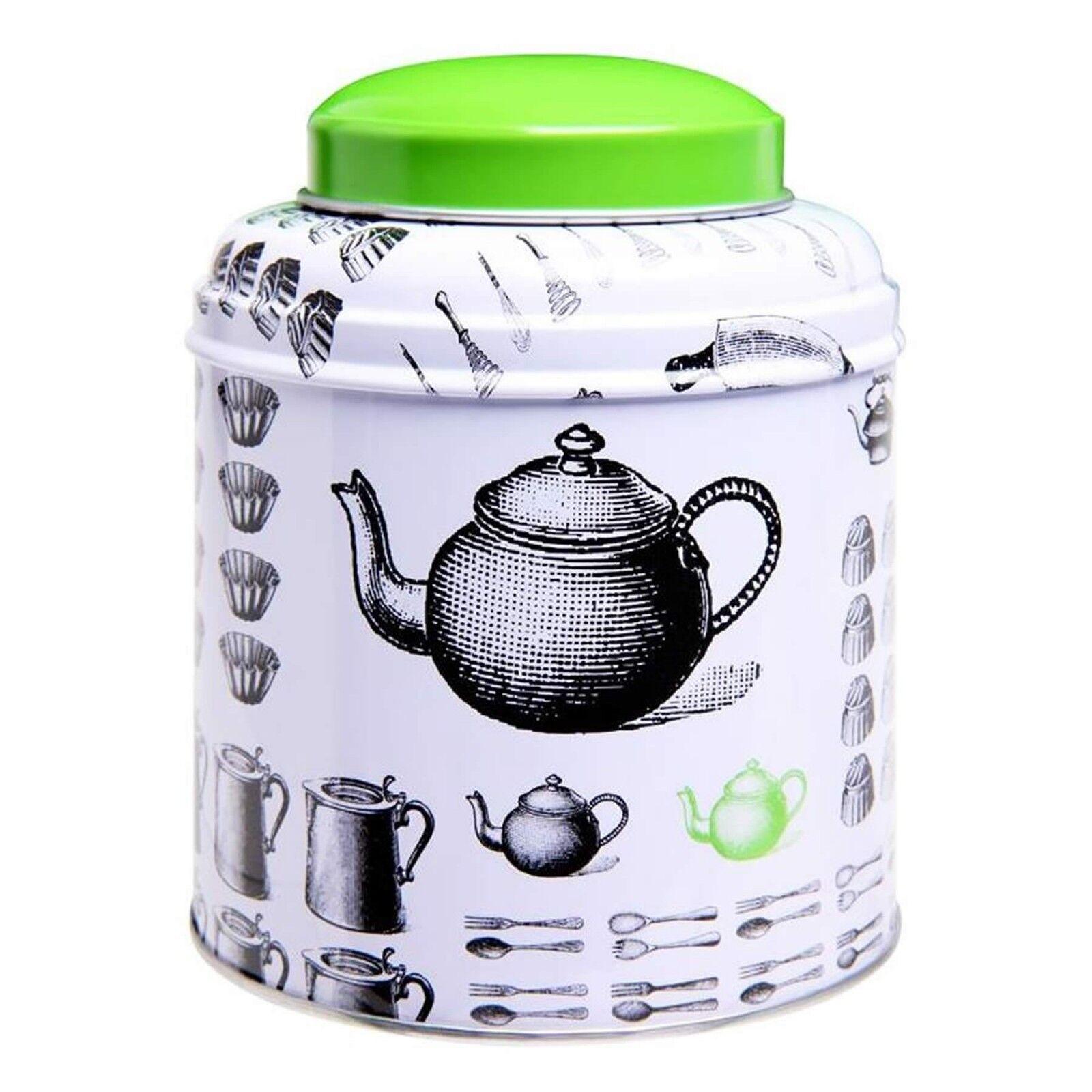 Virojanglor Kitchen Storage Tins Biscuit Bread Tea Coffee Pasta Canisters VJ