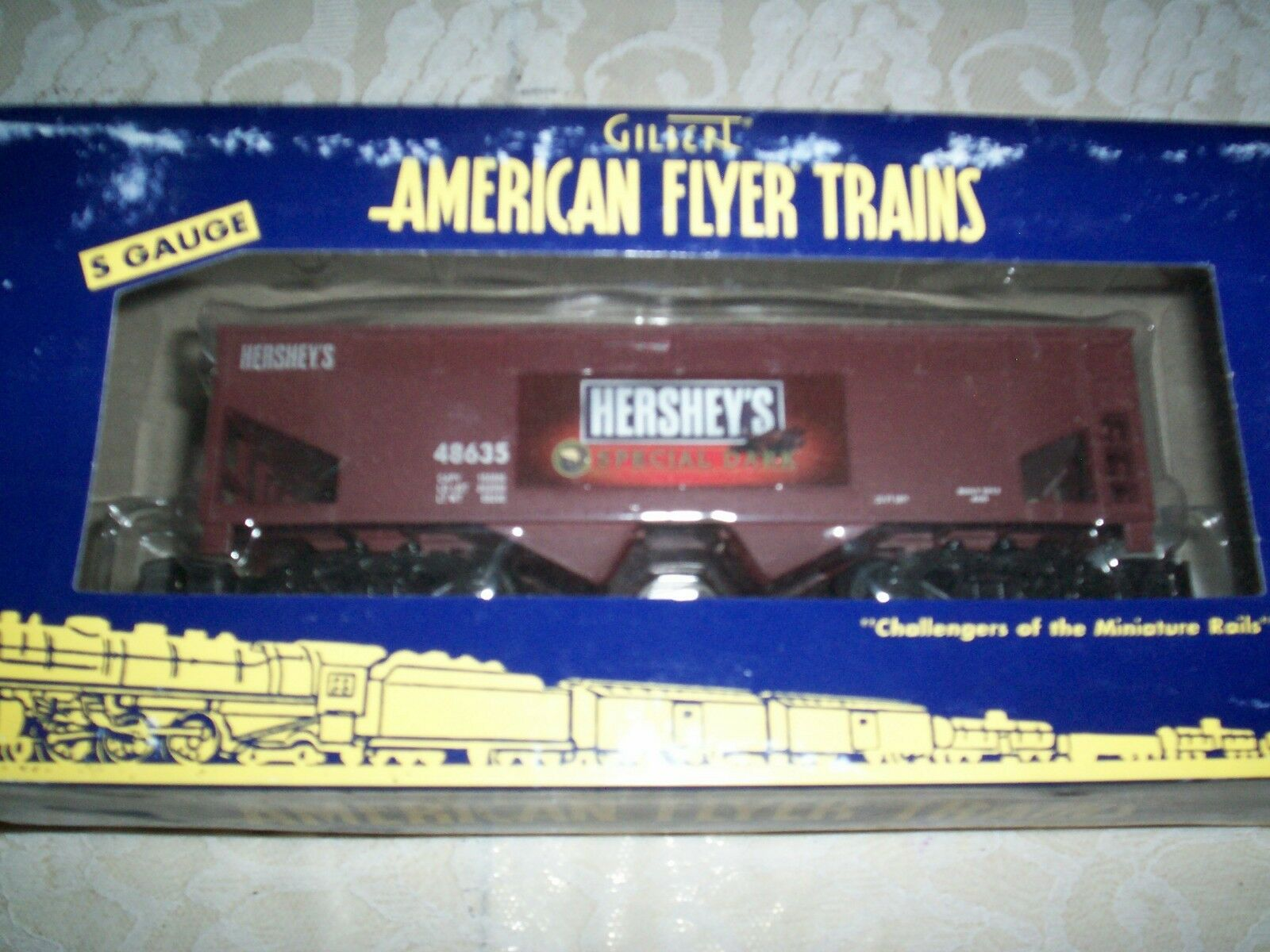 American Flyer Hershey's Special Dark 2 Bay Hopper Car with Coal Load